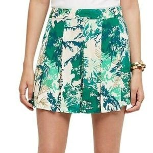 Anthropologie Kadu Green Leaf Skort Size 6 R21